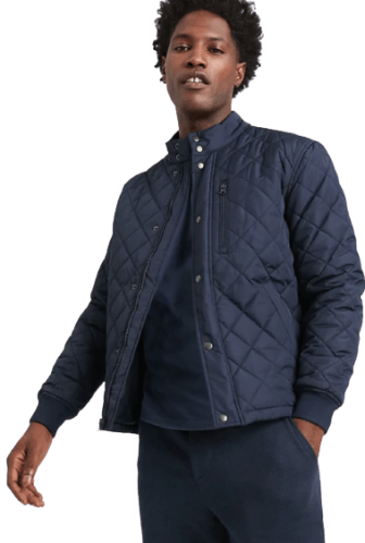 Banana Republic Men's Wrinkle Resistant Quilted Bomber Jacket for $40 + free shipping w/ $50