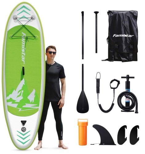 Famistar Inflatable Stand Up Paddle Board from $220 + free shipping