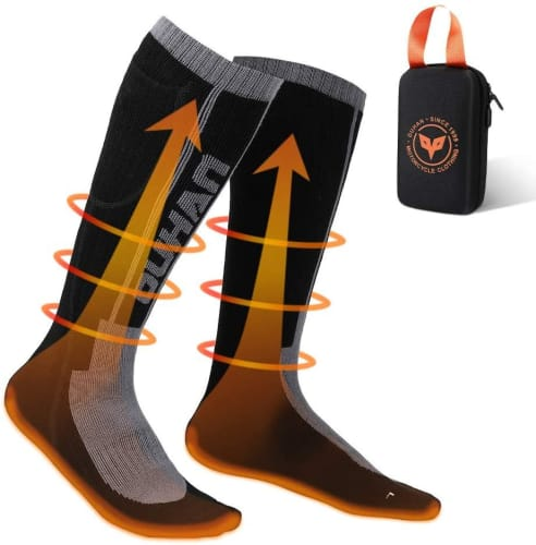 Kemimoto Remote Control Rechargeable Heated Socks for $50 + free shipping