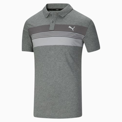 PUMA Men's Essential Sport Stripe Jersey Polo Shirt for $13 + free shipping