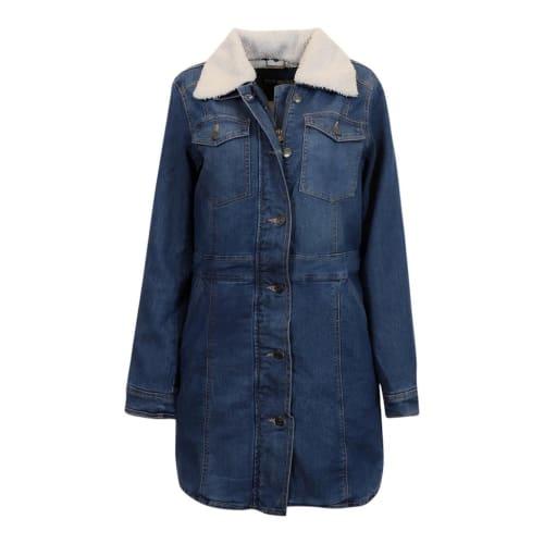 Steve Madden Women's Denim Walker Jacket for $12 + $5.95 s&h