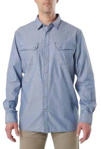 5.11 Tactical Men's Buckshot Chambray Shirt for $19 + free shipping w/ $35