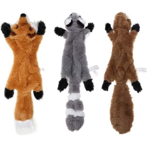"""22"""" Stuffingless Squeaky Plush Dog Toy 3-Pack for $10 + $2.49 s&h"""
