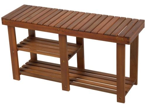 HomCom 3-Tier Acacia Wood Entryway Bench for $48 + free shipping