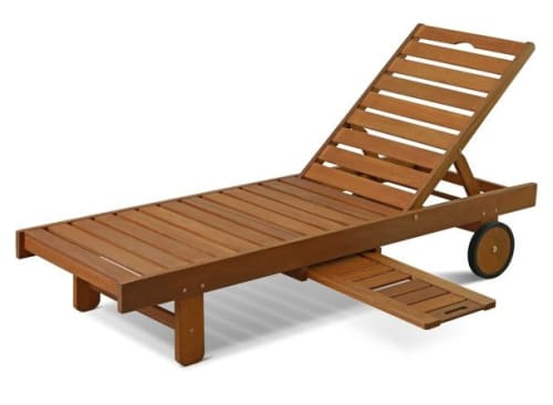 Furinno Tioman Hardwood Sun Lounger w/ Tray for $193 + free shipping