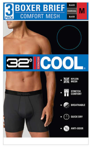 32 Degrees Men's Boxer Brief 3-Pack for $11 + free shipping