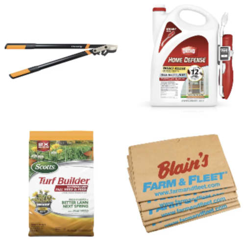 Blain's Farm & Fleet Fall Lawn & Leaf Clean-Up: Deals from $1.99 + free shipping on many items
