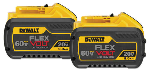 DeWalt 20V/60V Max FlexVolt 9Ah Lithium-Ion Battery 2-Pack for $216 + free shipping