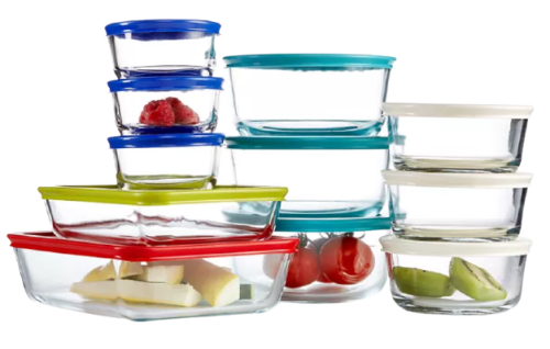 Pyrex 22-Piece Food Storage Container Set for $30 + free shipping