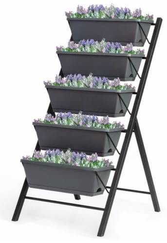 5-Tier Vertical Raised Garden Bed for $80 + free shipping