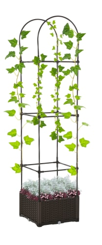 Outsunny Garden Bed and Trellis Plant Stand for $44 + free shipping