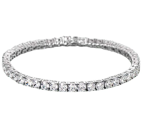 Swarovski Classic Silvertone Tennis Bracelet for $8 + free shipping