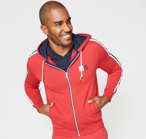 Nautica Men's Logo Stripe Full-Zip Hoodie for $40 + free shipping w/ $50
