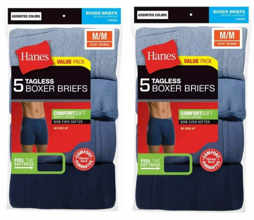 Hanes Men's Boxer Briefs 10-Pack (Small) for $20 + free shipping