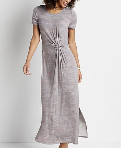 Maurices Women's 24/7 Knot Front Maxi Dress for $10 + pickup