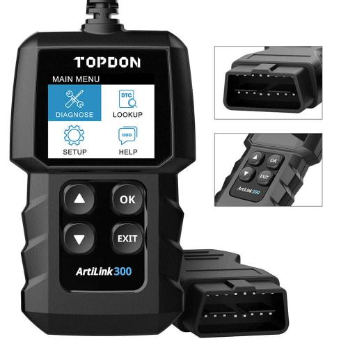 Topdon ArtLink 300 OBD2 Automotive Diagnostic Scanner for $18 + free shipping