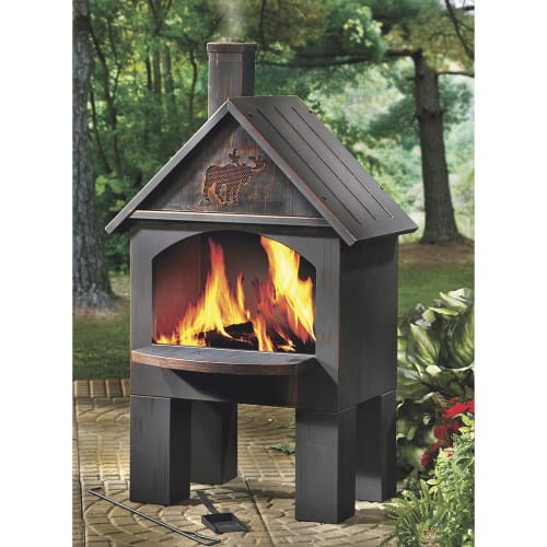 Cabin-Style Outdoor Cooking Chiminea for $115 + free shipping