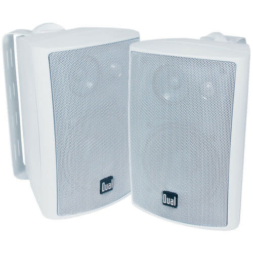Dual Electronics Indoor/Outdoor 3-Way Speaker Pair for $37 + free shipping