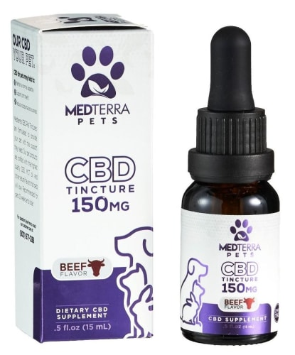 Medterra CBD 150mg Beef Pet Tincture for $7 + $7.99 s&h