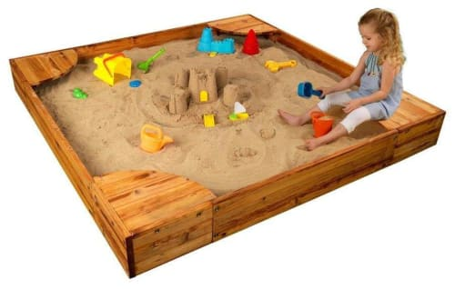 "KidKraft 60"" x 60"" Square Wood Sandbox for $110 + pickup"