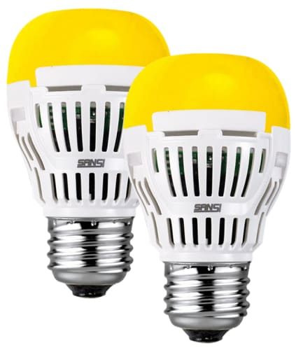 Sansi 8W LED Yellow Bulb 2-Pack for $8 + free shipping