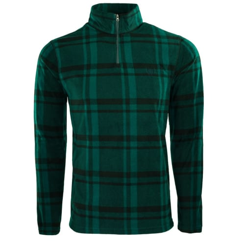 Chaps Men's Fleece Flannel 1/4-Zip Jacket for $9 + $5.95 s&h