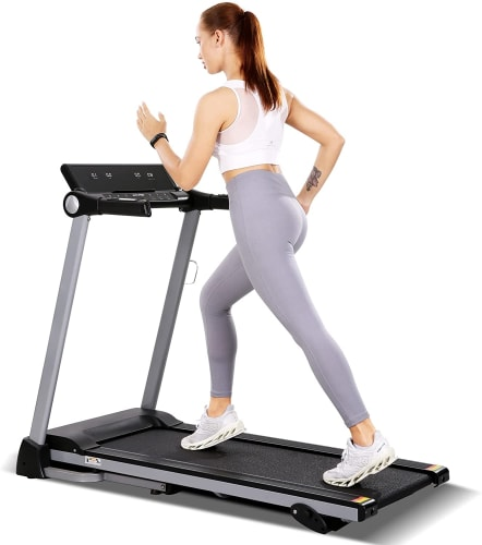 MaxKare Foldable Electric Treadmill for $150 + free shipping