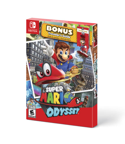 Super Mario Odyssey with Traveler's Guide for Nintendo Switch for $40 + pickup