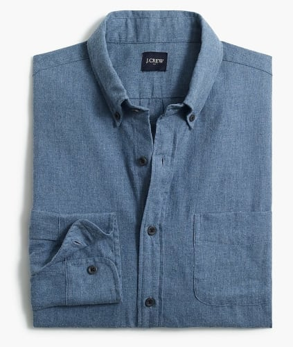 J.Crew Factory Men's Shirts: 50% off + free shipping w/ $99