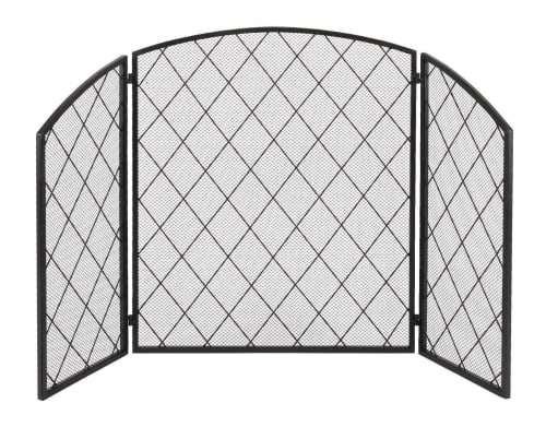 3-Panel Wrought Iron Fireplace Screen for $50 + free shipping