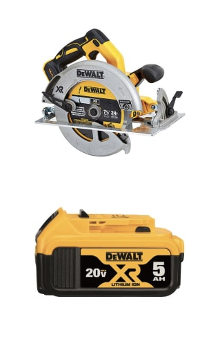 "DeWalt XR 20-Volt 7-1/4"" Brushless Cordless Circular Saw and 20V Lithium Power Tool Battery for $179 + pickup"