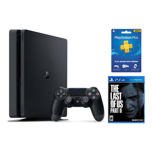 Sony PlayStation 4 Slim 1TB Console Bundle w/ TLOU Part 2 + 3-Mo. PS Plus Membership for $390 + free shipping