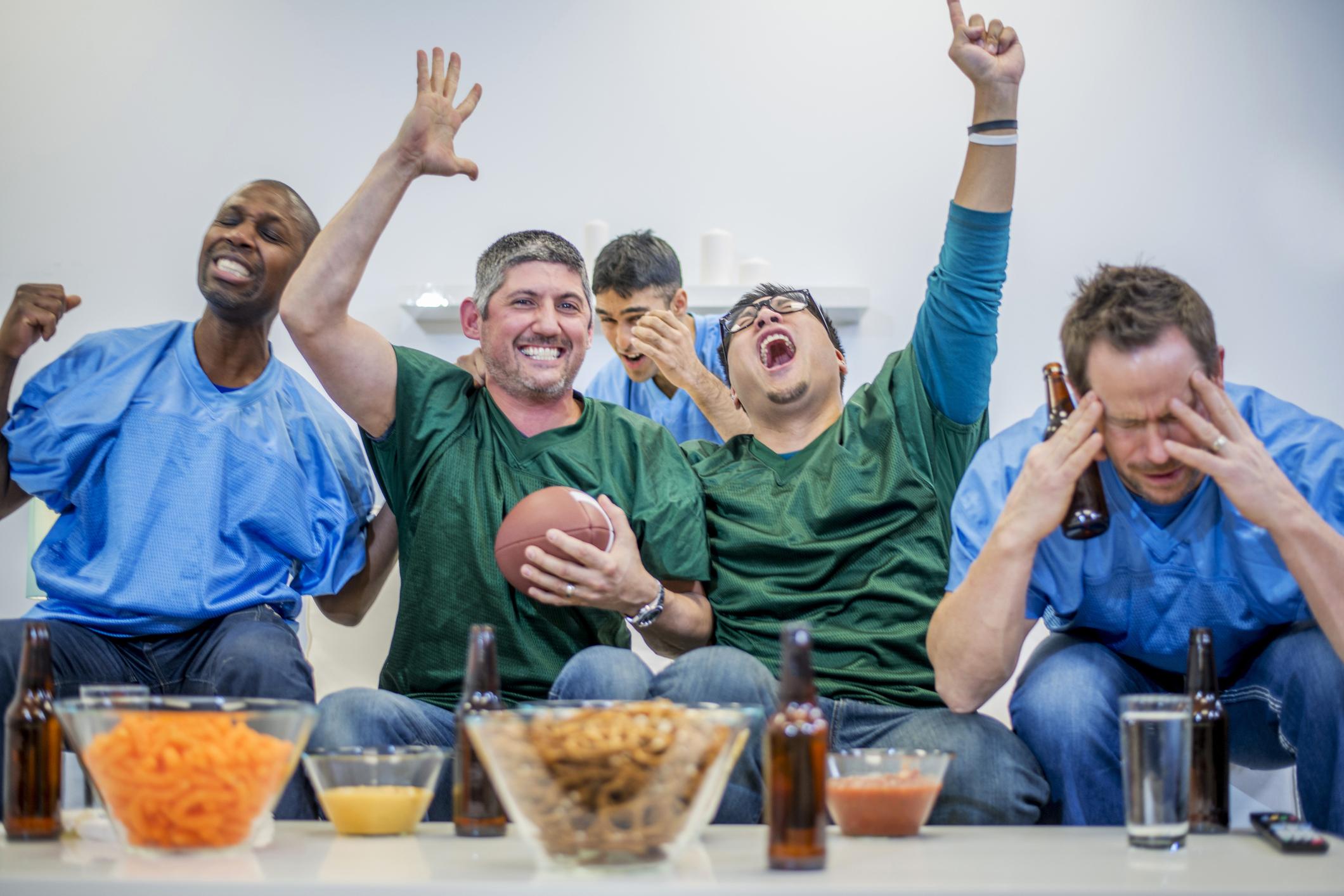 Men Watching a Game