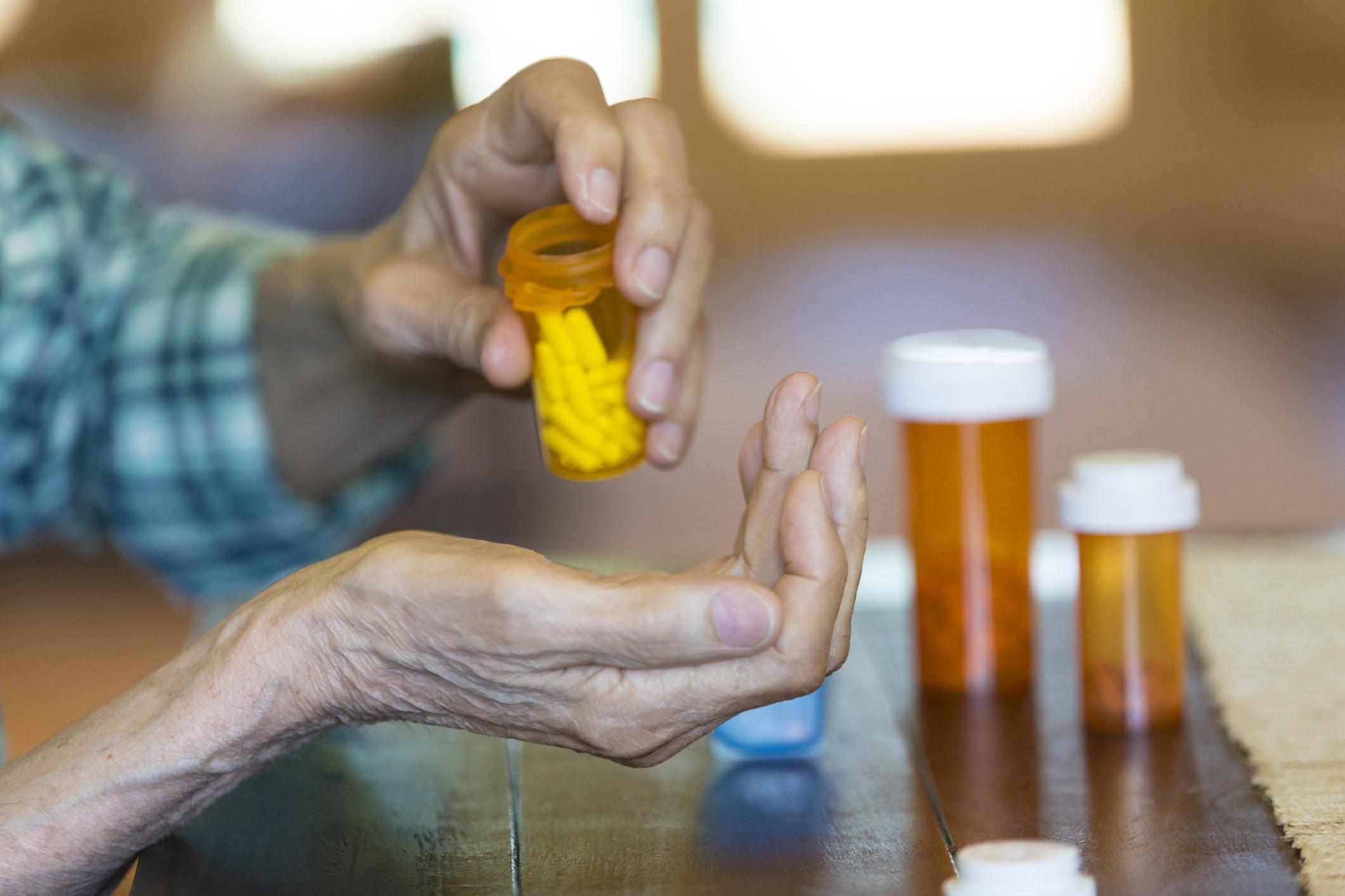 Elder Taking Medication