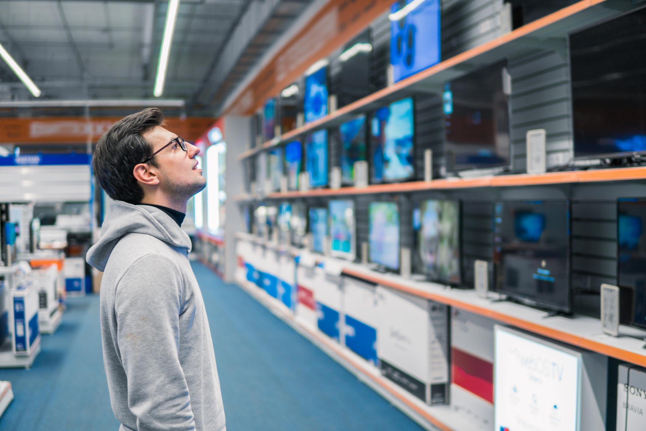 Man Buying TV