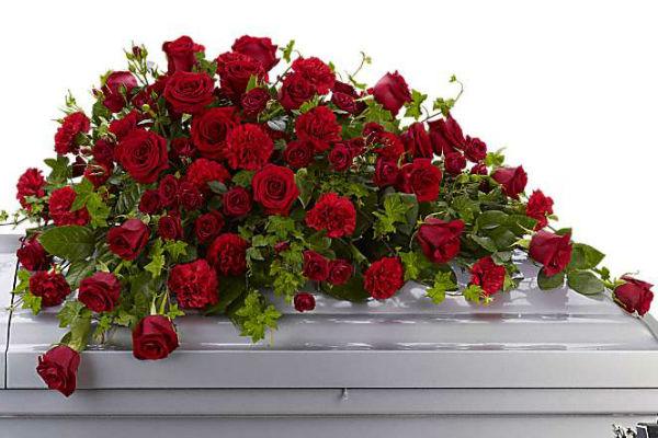 Funeral Casket Roses